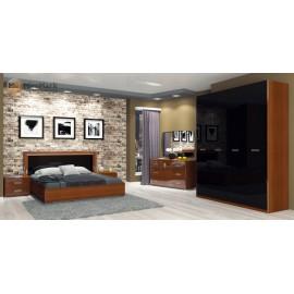 Спальня БЕЛЛА Шафа 4 Дв,приліжкові 2 шт, комод 3 шх, зеркало, ліжко 1,6х2.0 без каркаса