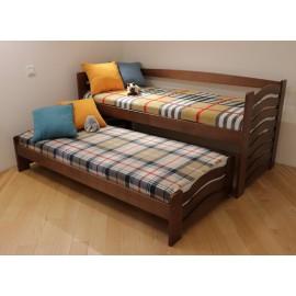 Ліжко двомісне з висувним спальним місцем МАЛЬВА 90х200 (190)