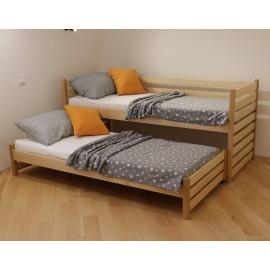 Ліжко двомісне з висувним спальним місцем СІМБА 90х190 (180)